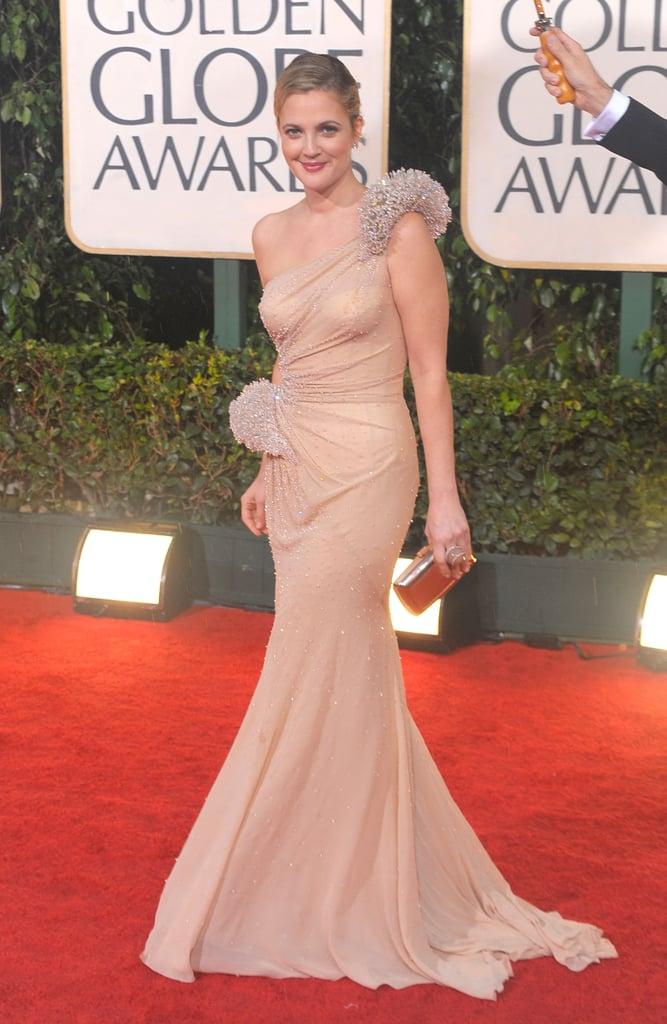 Drew Barrymore in Atelier Versace in 2010.