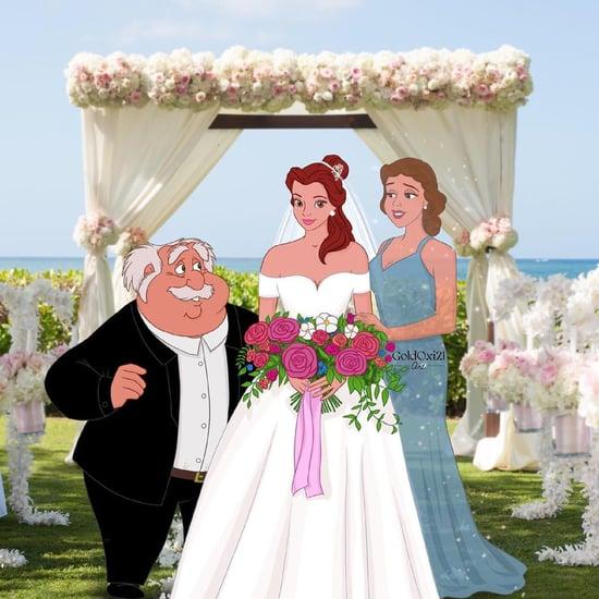 Artist Transforms Disney Princesses Into Brides With Parents