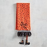 Witchy Legs Halloween Tea Towel