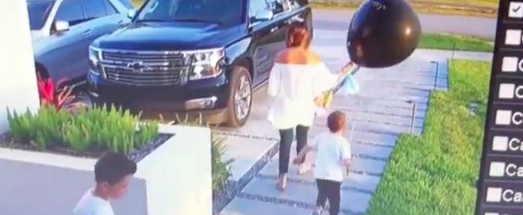 Boy Pops Mom's Gender Reveal Balloon