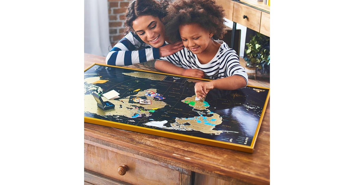 Mymap Gold Scratch Off World Map Wall Poster Father S