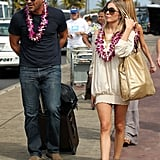 Eddie and LeAnn wore traditional leis.