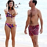 Jon Hamm and Jessica Paré were in Maui.