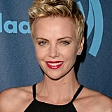 Charlize Theron loves to wear her hair with heavy volume at the top, accentuating the shorter sides.