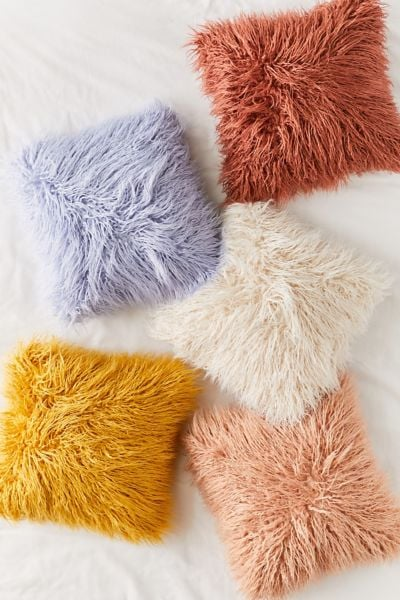 Mila Faux Fur Throw Pillows
