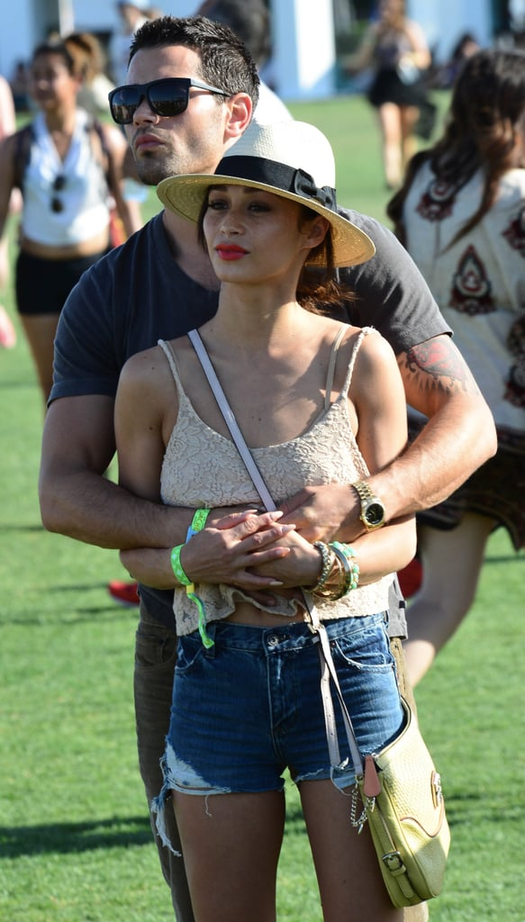 Jesse Metcalfe kept his arms wrapped around Cara Santana.