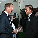 Prince William and David Beckham in LA.