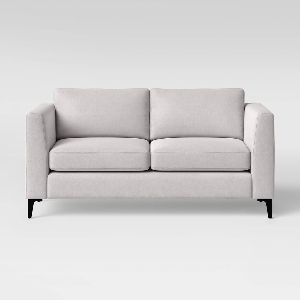 "71"" Medway Sofa with Metal Legs Light Gray"