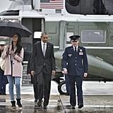Malia Obama's Pink Coat April 2016