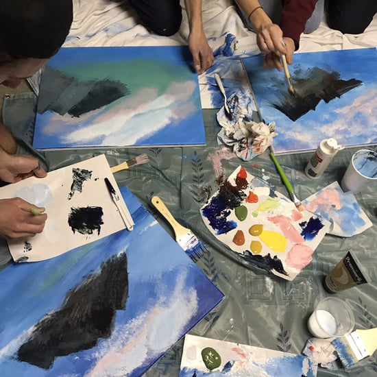 Pictures of Bob Ross Painting Party
