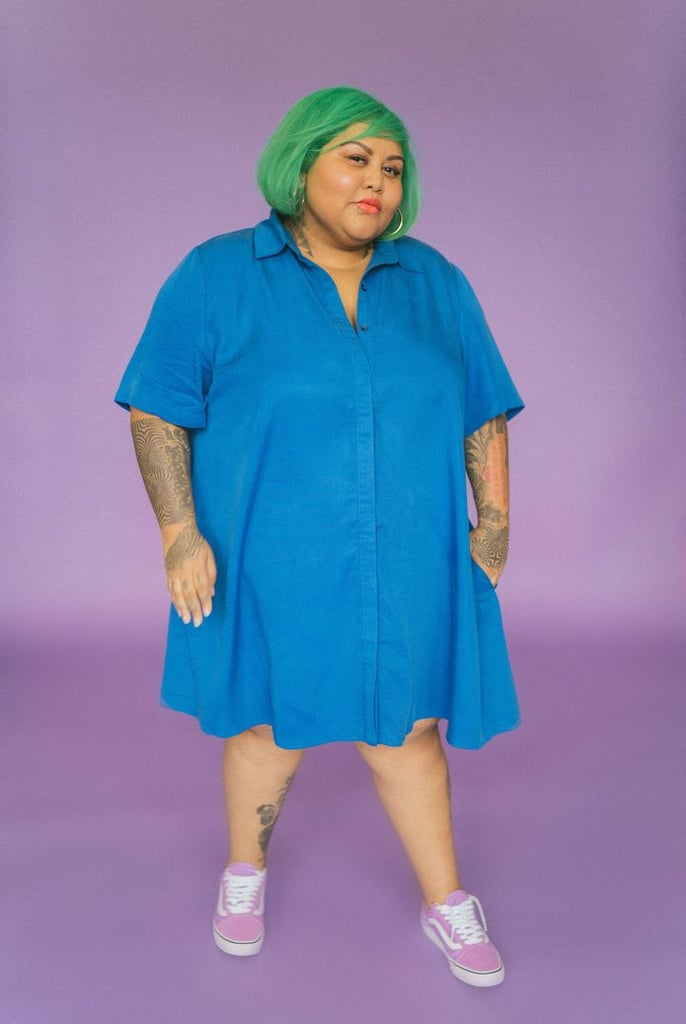 The Lovington Dress in Blue by Aidy Bryant and Remy Pearce