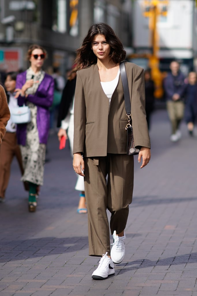 Update a nostalgic-feeling suit with contemporary kicks.