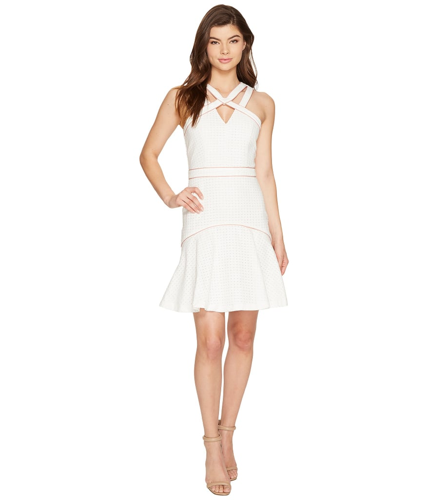 Adelyn Rae Constance Woven Jacquard Trumpet Dress