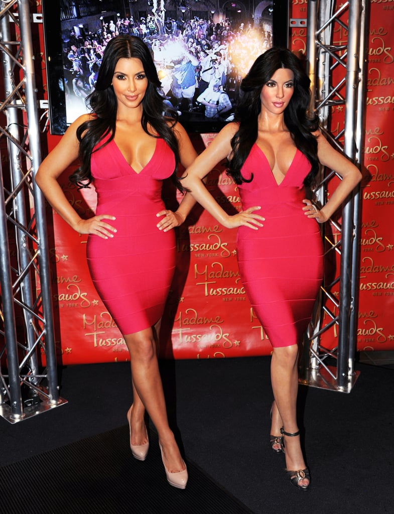 Uncanny! She posed next to her wax figure at Madame Tussauds New York in July 2010.