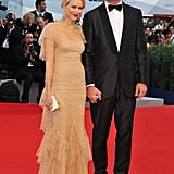 Naomi Watts and Liev Schreiber arrived hand in hand at the premiere of The Reluctant Fundamentalist.