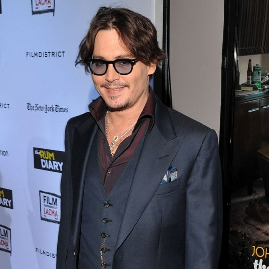 Johnny Depp Pictures at LA Rum Diary Premiere
