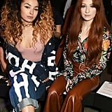 Ella Eyre and Nicole Roberts at House of Holland