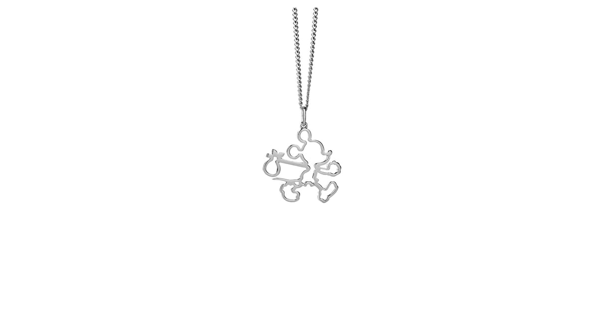92ff83078150 Silver Runaway Mickey Outline Necklace