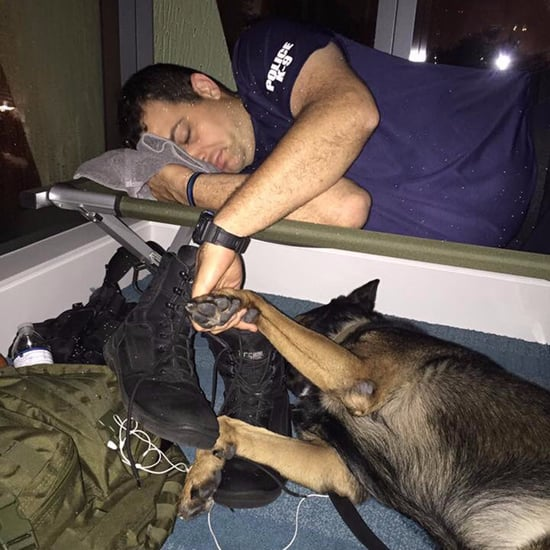 Florida Officer Napping With Dog During Hurricane Irma