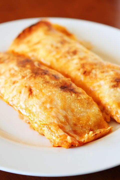 Cheesy Enchilada-Style Burritos