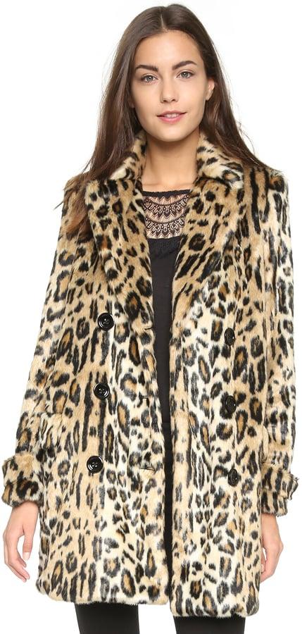Alice + Olivia Montana Faux Fur Coat ($596)