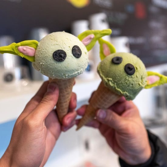 This LA Gelato Shop Is Serving Baby Yoda Ice Cream Cones