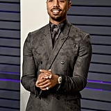 Michael B. Jordan Wears Berluti Suit to the 2019 Vanity Fair Oscar Party