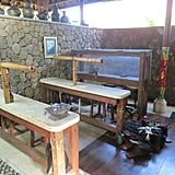Locally crafted silver jewelry is a part of Bali's shopping culture. I stopped by the Prapen Jewelry and Artifacts on our tour. At this boutique, you can either buy Balinese goods or learn how to make them at workshops (pictured).