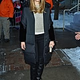 Jessica Biel walked the streets of Park City, UT, during Sundance on Friday.