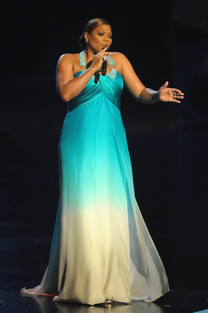 Host Queen Latifah belted out multiple numbers during the 2011 show.