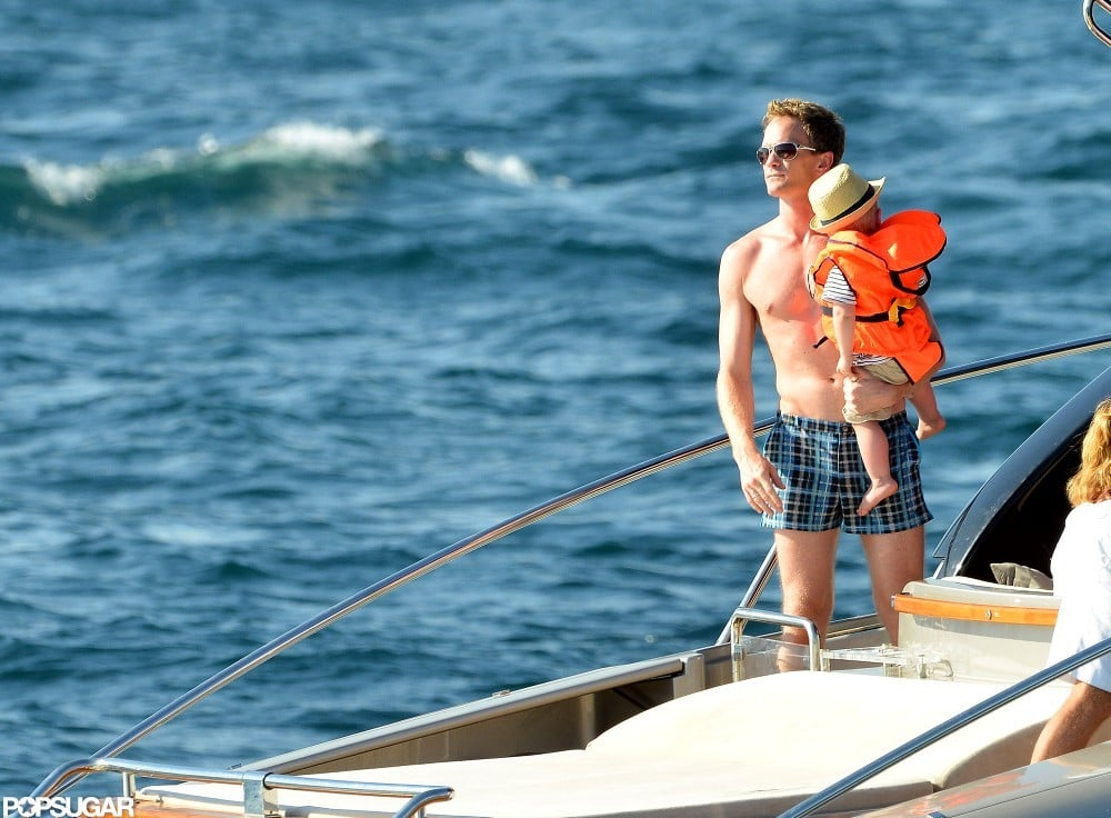 Neil Patrick Harris spent the day boating in Saint-Tropez.