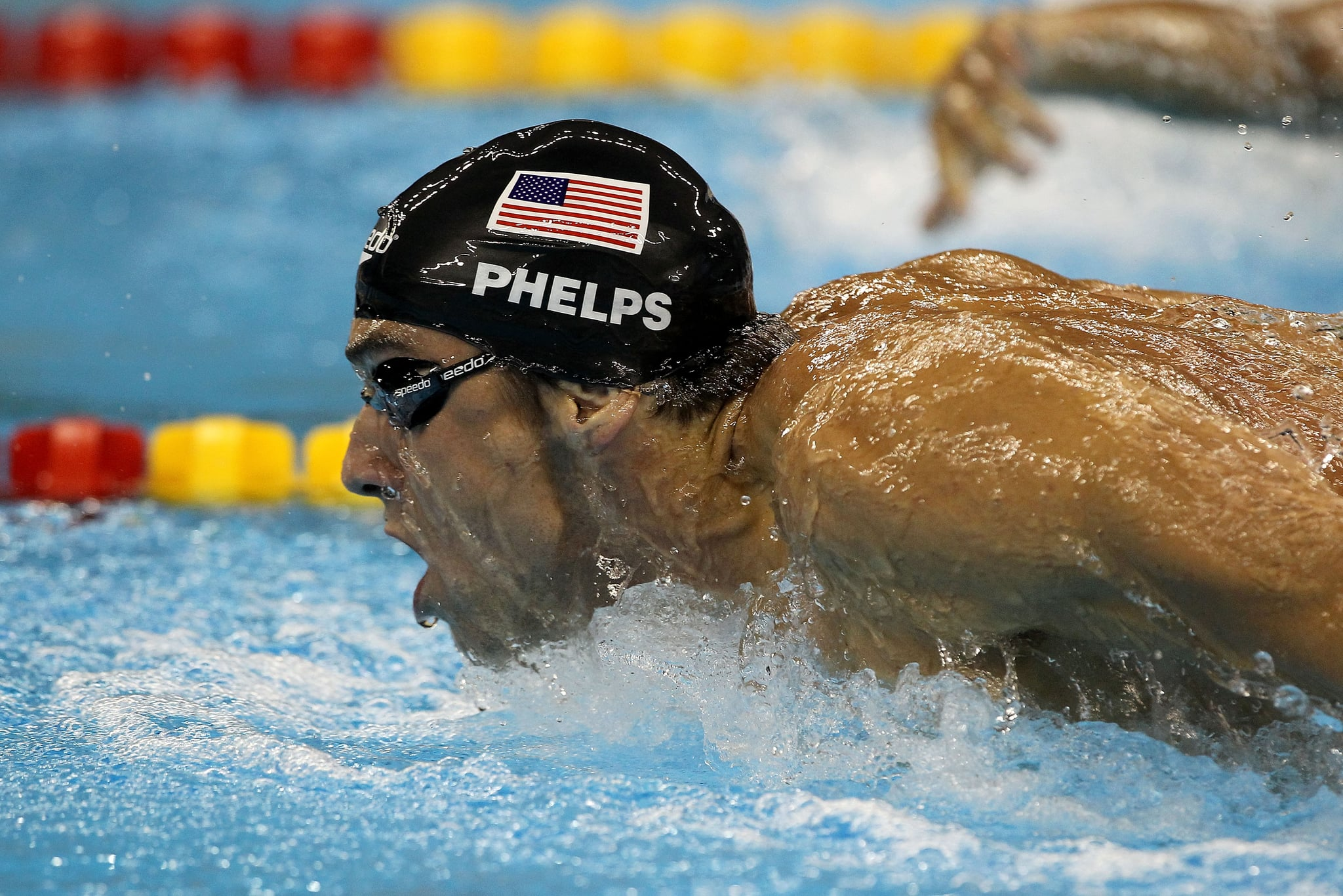 michael phelps will race against great white shark popsugar fitness