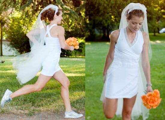 Oiselle Runaway Bride Wedding Dress For Runners