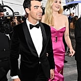 Joe Jonas and Sophie Turner at the 2020 SAG Awards