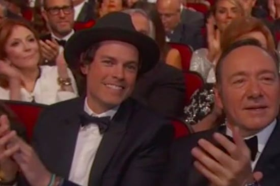 That Hot Dude Sitting Next To Kevin Spacey At The Emmys Is Evan Of Pop Band Evan And Jaron