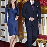 She Paired Her Silk Dress With Suede Pumps That Complemented William's Suit