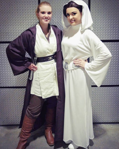 Princess Leia Diy Halloween Costumes Using A White Dress