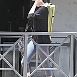 Charlize Theron carried a bright green yoga bag with her in LA.