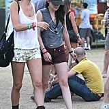 Kristen Stewart wore boyfriend Robert Pattinson's hat while at Coachella's second weekend.