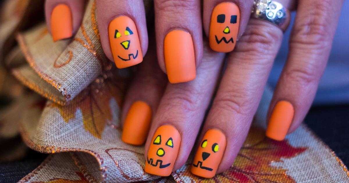 18 Jack-o'-Lantern Nail-Art Ideas So Good, They're Scary.jpg