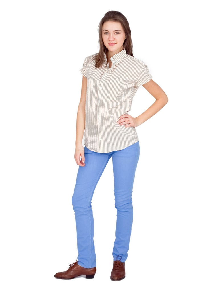 American Apparel Light Royal Blue Skinny Jeans ($74)