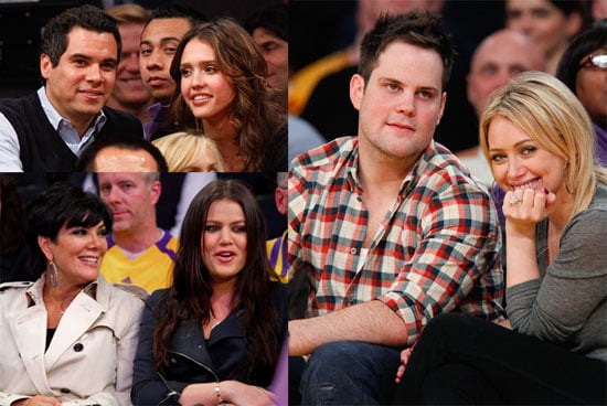 Pictures of Hilary Duff, Mike Comrie, Jessica Alba, and Khloe Kardashian at the LA Lakers Game 2010-05-18 10:00:00