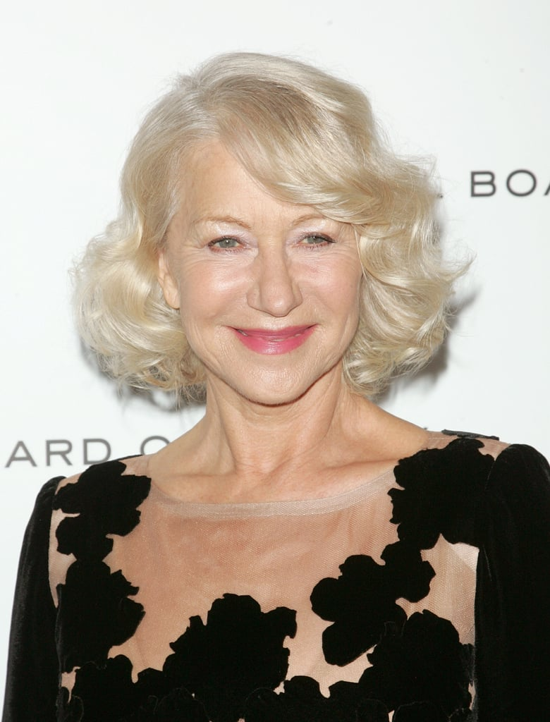 Helen Mirren offered a closer look at the floral neckline of her gown.