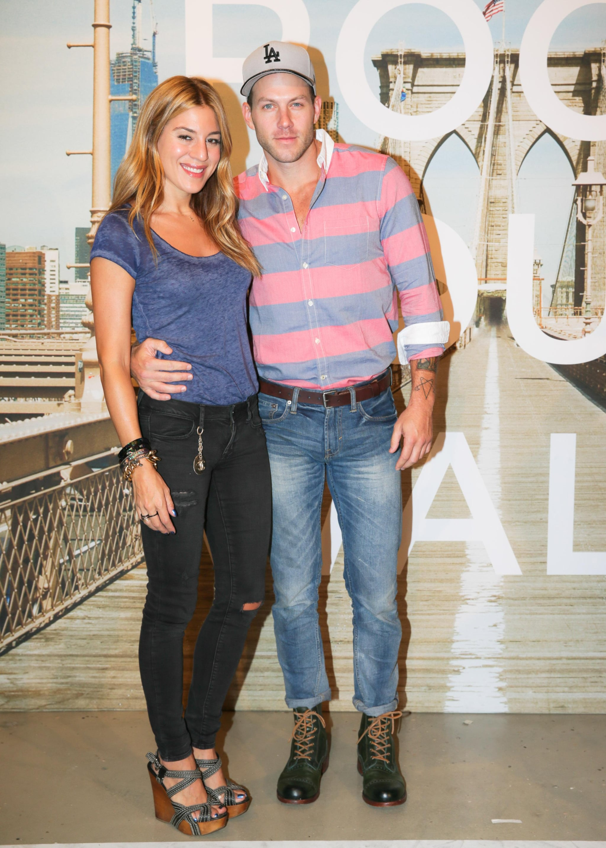 At the Times Square American Eagle bash, Dani Stahl and Johnny Wujek wore their denim with style.