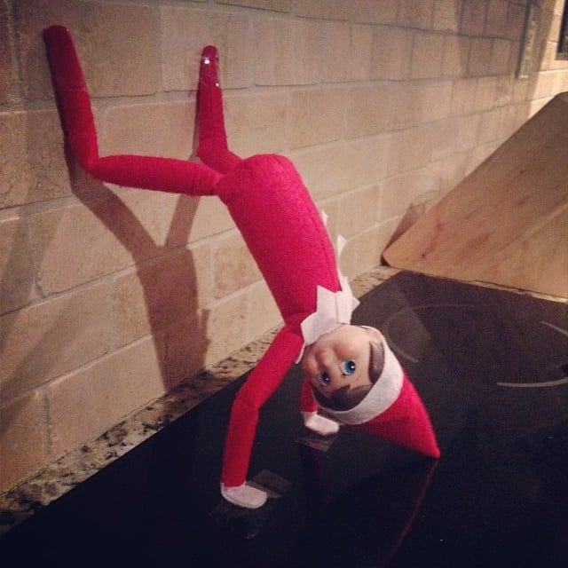 Tell The Kids That Handstand Push Ups Get Elf In Tip Top Shape