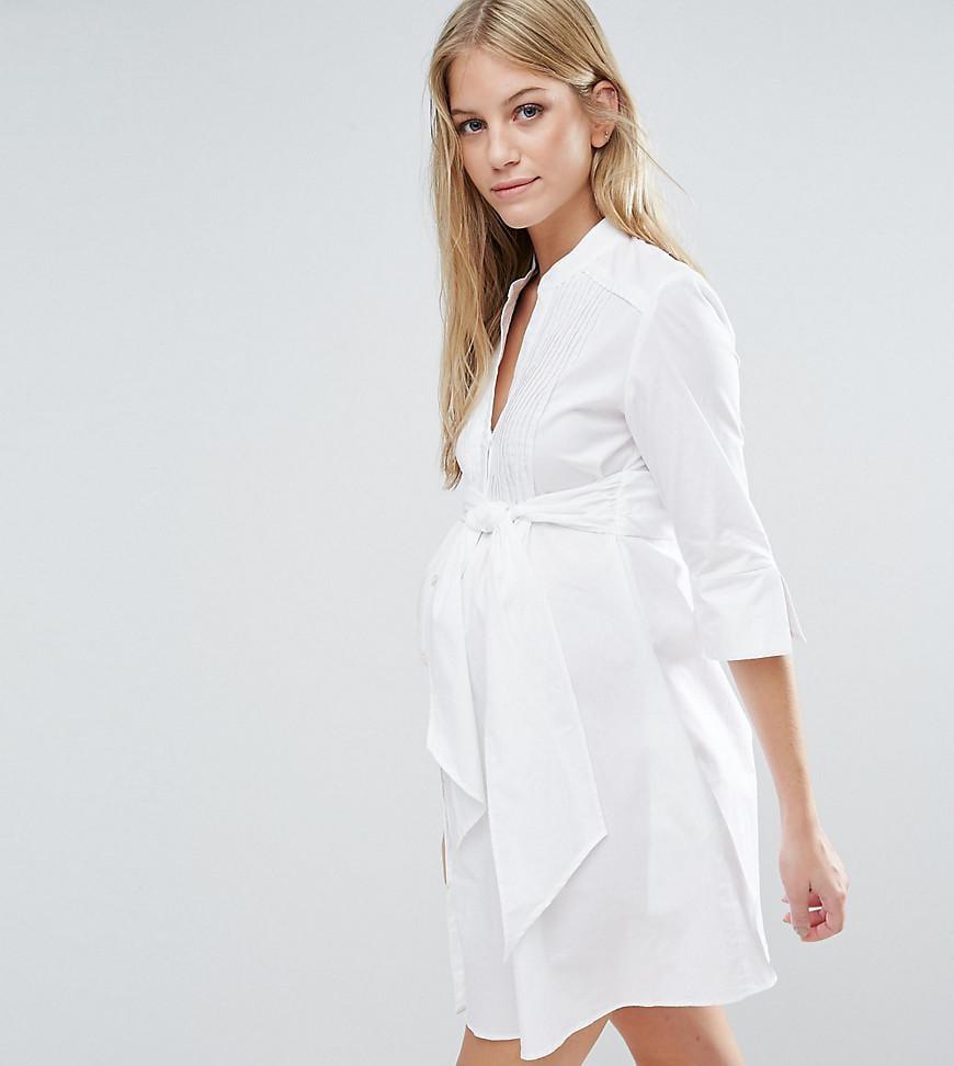 1194b0b0597 Isabella Oliver Longline Shirt Dress With Tie Waist