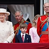 Queen Elizabeth watched the Trooping the Colour parade in 2015 with her youngest grandkid, James, Viscount Severn.