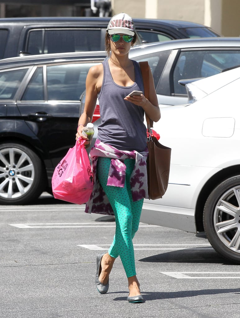 Alessandra Ambrosio ran errands around LA on Monday.