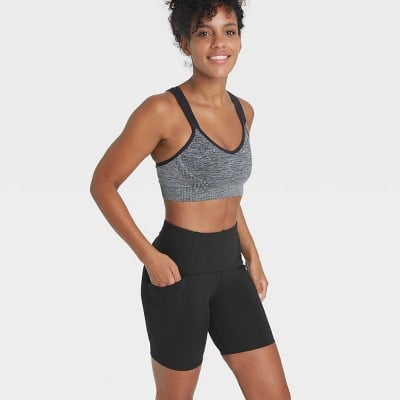 """All in Motion Sculpted Linear High-Waisted Bike Shorts 7"""""""