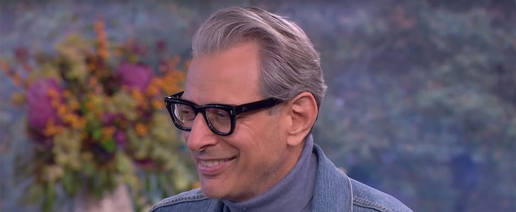 Jeff Goldblum Flirting With a Reporter on Live TV Has People All Hot and Bothered